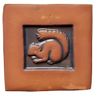 Moravian Tile with Squirrel