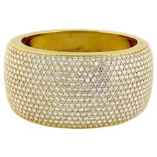 Estate Kurt Wayne 18K 632 Diamonds/33-34ct 36mm Wide 162 grams Bangle Bracelet