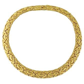 Bvlgari Bulgari 18K Yellow Gold TRIKA Collar Necklace w/Bvlgari Box~200grams!