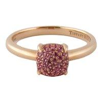 Tiffany & Co Paloma Picasso 18K Pink Sapphire SUGAR STACKS Ring R:$2,400 Sz:7.75
