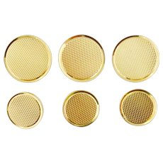 Vintage Tiffany & Co 14K Yellow Gold Set of Six (6) Buttons