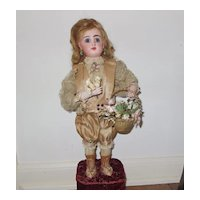 Jumeau automaton by Lambert - Marquis and basket of flowers