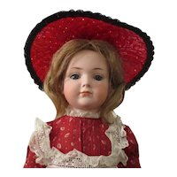 """Kley and Hahn 546 character girl - 19"""", closed mouth, perfect bisque"""