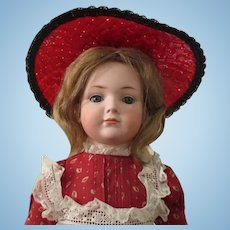 "Kley and Hahn 546 character girl - 19"", closed mouth, perfect bisque"