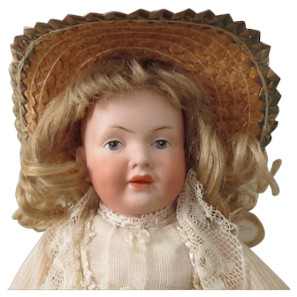 """Kley and Hahn 536 character girl - 11"""", perfect bisque"""
