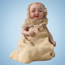 """All bisque baby - 3 1/2"""", from the attic, perfect bisque"""