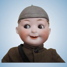 "Elite Googly by Max Handwerck - 11 1/2"", wears a helmet,perfect bisque"