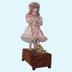 "Mechanical Jumeau crying over broken doll -16"", works well"