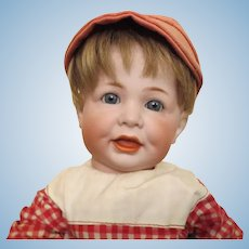 """K*R 116A toddler -16 1/2"""", perfect bisque, possibly original clothing"""