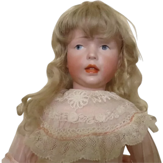 """K*R 112 character girl - 15"""", rare, perfect bisque"""