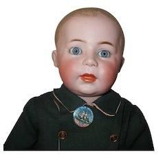 """Simon Halbig 1498 boy - 15 1/2"""", perfect bisque, toddler"""