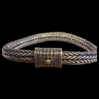 Sterling Woven Bracelet