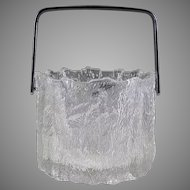 Scandinavian Textured Glass Ice Bucket