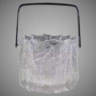 Scandinavian Textured Glass Ice Bucket