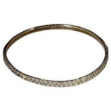 Pentti Sarpaneva  Bronze Plaited Bangle Bracelet 1970's Finnish