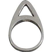 Unique Danish Modernist Sterling Silver Ring