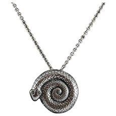 Kalevala Koru Sterling Silver Serpent Pendant/Brooch