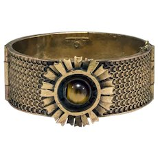 Pentti Sarpaneva Wide Cuff Bronze Bracelet for Kalevala Koru