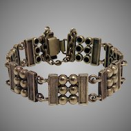Vintage Architectural Style Bronze Bracelet From Finland