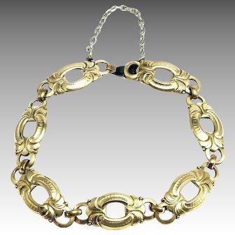 Vintage AM Double Gold-Plated Bracelet