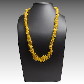 Real Baltic Amber Vintage Necklace