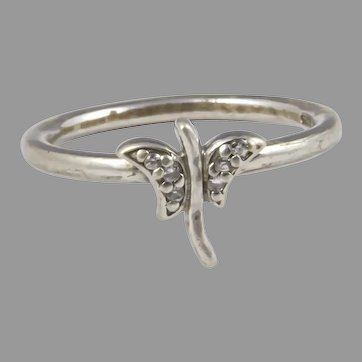 .925 Silver Vintage Butterfly Ring