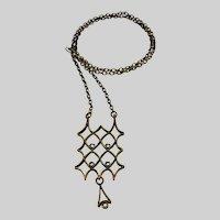 Unmarked Pentti Sarpaneva Bronze Pendant Necklace