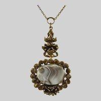 Pentti Sarpaneva  Botswana Agate Pendant Necklace
