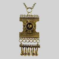 Vintage Finnish Pentti Sarpaneva Modernist Bronze Necklace