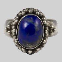 Vintage Lapis Lazuli Silver Ring