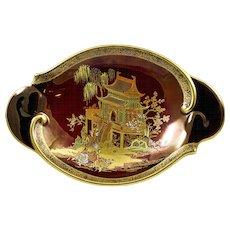 Carlton Ware Rouge Royale Chinoiserie Dish, 'New Mikado' pattern