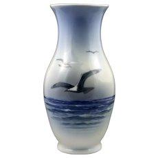 Royal Copenhagen Porcelain Vase Decorated  w/Seagulls