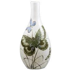 Royal Copenhagen Vase w/Butterflies Nils Thorsson