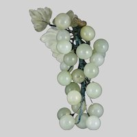 Vintage Simulated  Glass Bunch of Green Grapes
