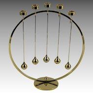 Asmussen Danish Design 24 K Gold-Plated Advent Wreath/Candleholder