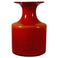 Holmegaard Glassworks Denmark Carnaby Bottle Vase
