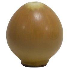Berndt Friberg Gustavsberg Egg-Shaped Vase, Haresfur Glaze