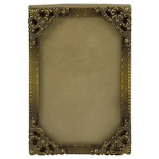 Vintage  Brass Small Ornate  Picture Frame