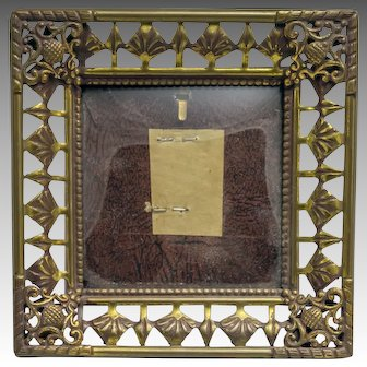 Vintage Ornate Miniature Picture Frame