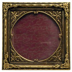 Vintage Miniature Gilt Metal Picture Frame