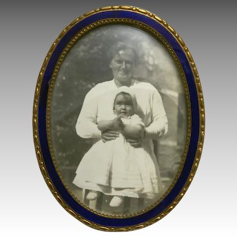 Vintage Oval Miniature Picture Frame