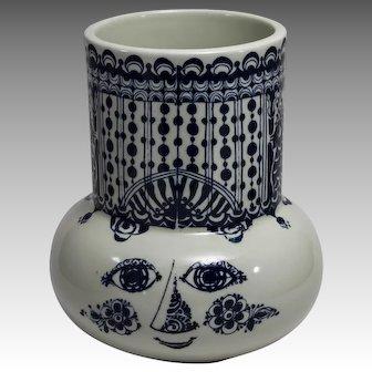 Bjorn Wiinblad Nymolle Denmark Woman's Head Vase