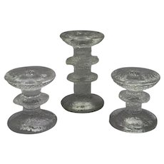 Iittala Festivo Candlesticks by Timo Sarpaneva set of 3