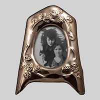 Vintage Copper Standing Picture Frame