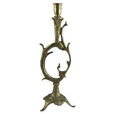 Art Nouveau Gilded Brass Candle Holder