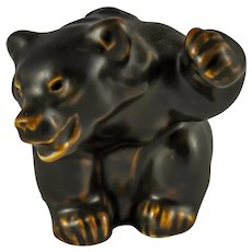 Royal Copenhagen Bear Cub Figurine by Knud Kyhn 21433