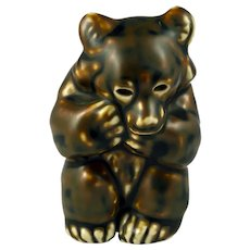 Royal Copenhagen Bear Cub Figurine by Knud Kyhn 21435