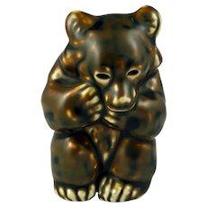 Royal Copenhagen Bear Cub Figurine by Knud Kyhn 21435