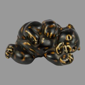 Royal Copenhagen Bear Cub Figurine by Knud Kyhn 21432