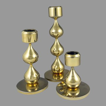 Asmussen Danish Design 24 K Gold-Plated Candle Holders